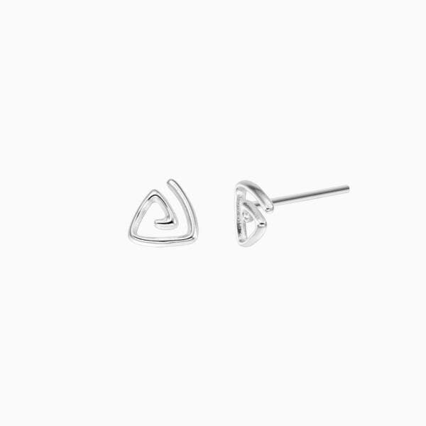 Cercei din argint Manissi Triangle Stud