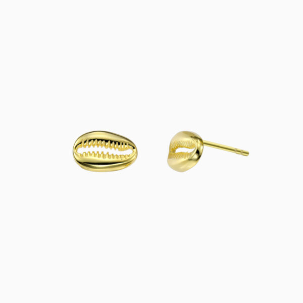 Cercei din argint Manissi Conch Stud Gold