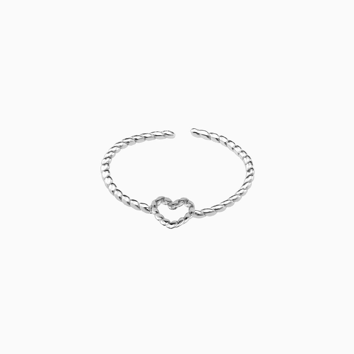 Inel din argint Manissi Slim Heart