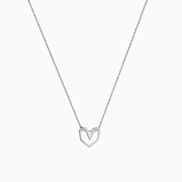 Lant de argint Manissi Irregular Heart