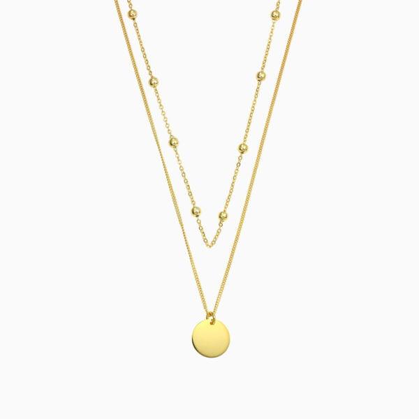Lant din argint Manissi Double Chain Gold