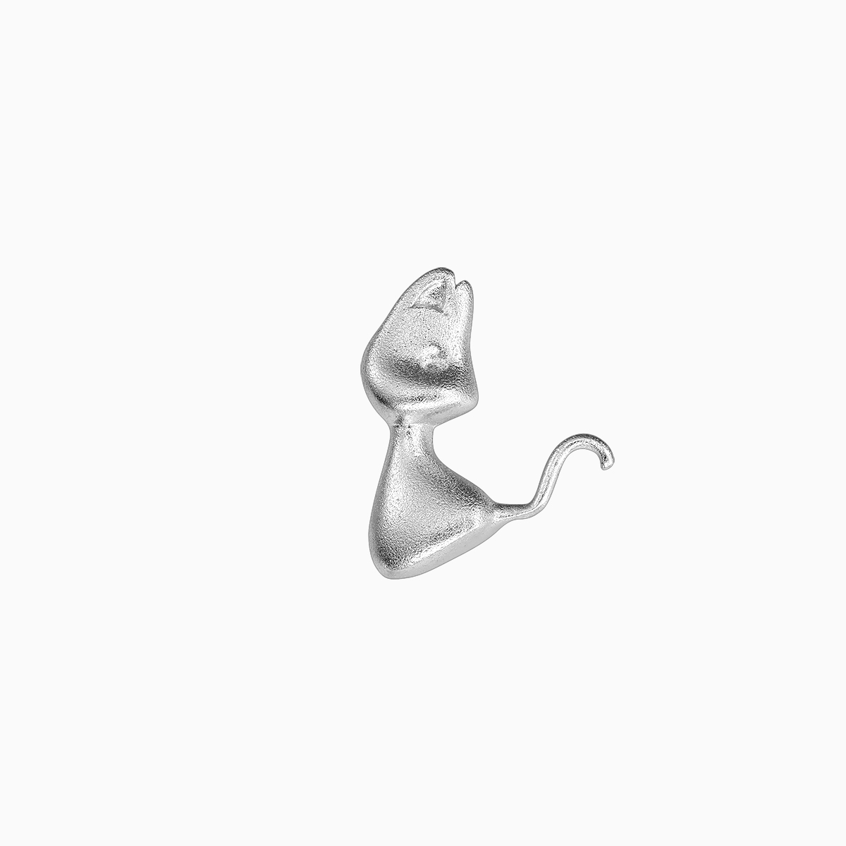 Cercei din argint Manissi Tiny Cat Stud