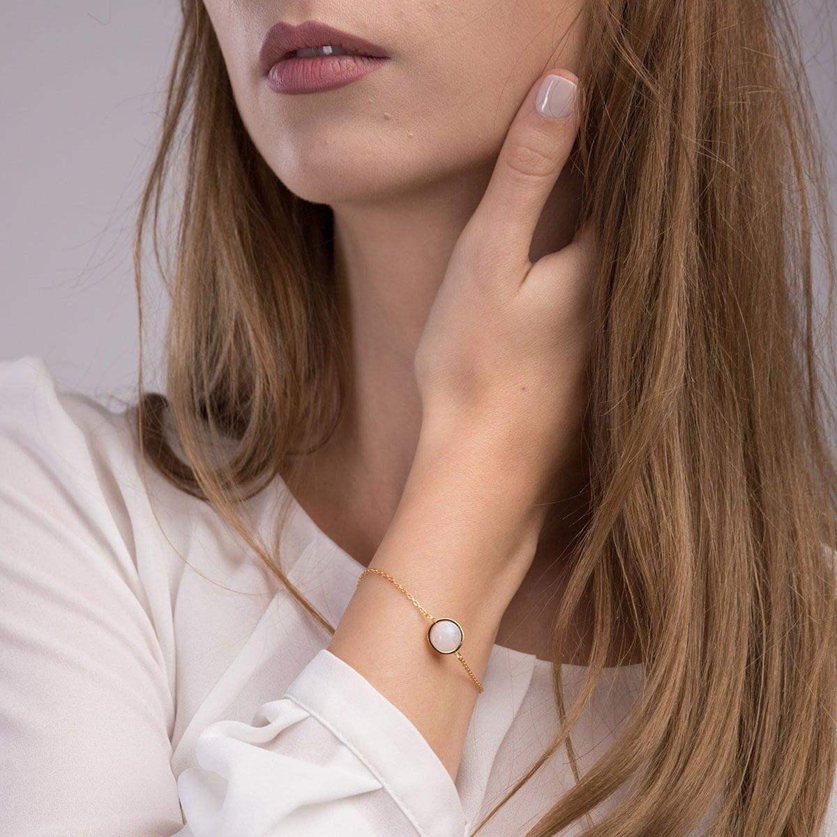 Bratara din argint Manissi Pearl Eye