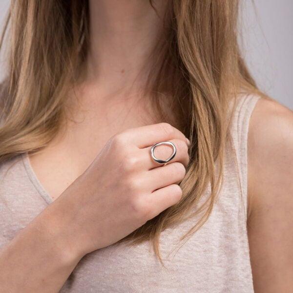 Inel din argint Manissi O Ring