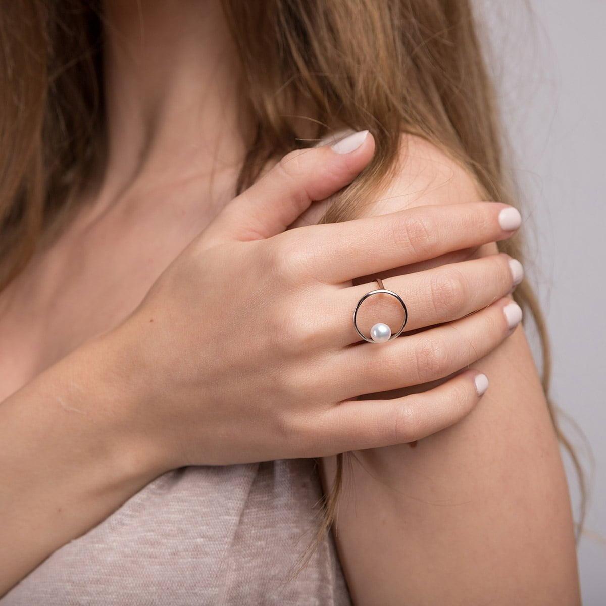 Inel din argint Manissi Pearl