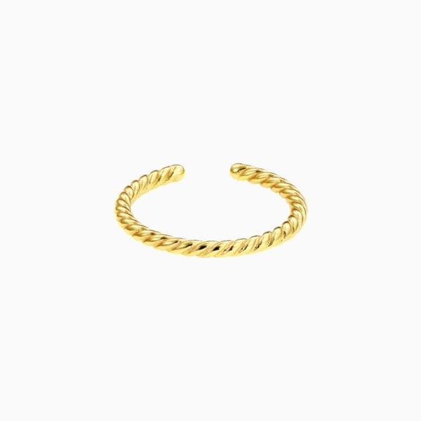 Inel Manissi Middle Twist Gold placat cu aur 18k