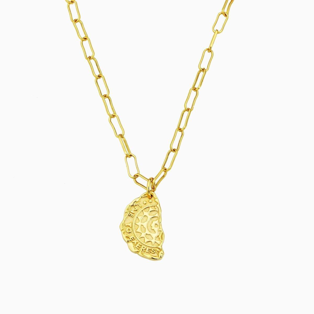 Lant din argint Manissi Maria placat cu aur 18k