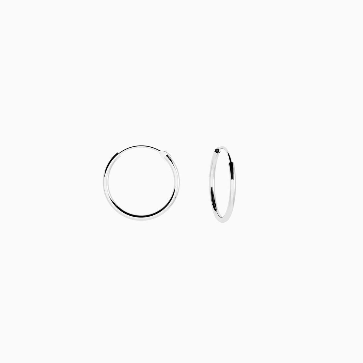 Cercei din argint Manissi Simple Hoop M