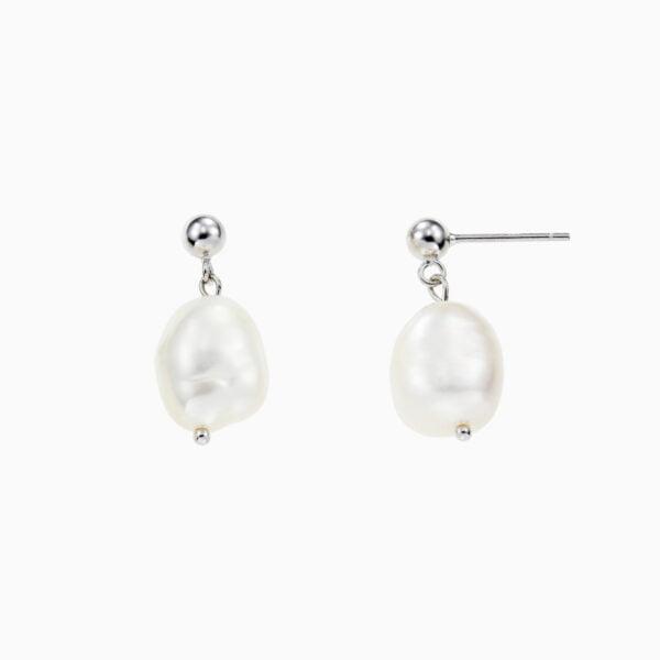 Cercei din argint Manissi Pearl Drop