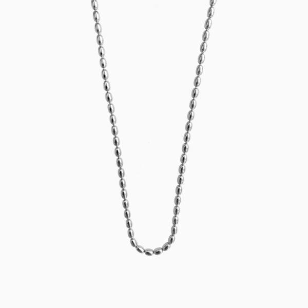 Lant din argint Manissi Oval Beads