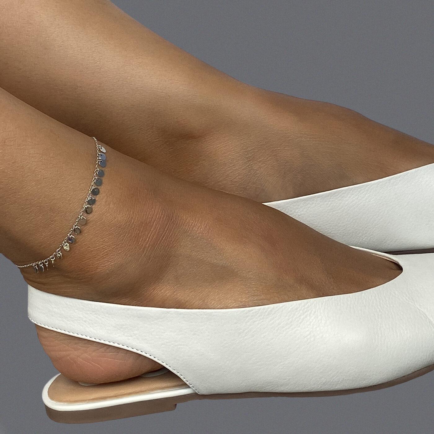 Bratara de picior din argint Manissi Coins