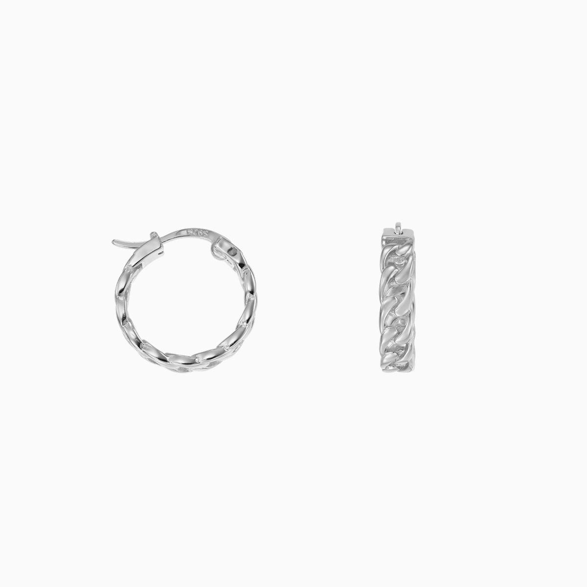 Cercei din argint Manissi Iron