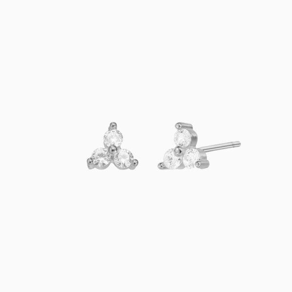 Cercei din argint Manissi Mini Lotus