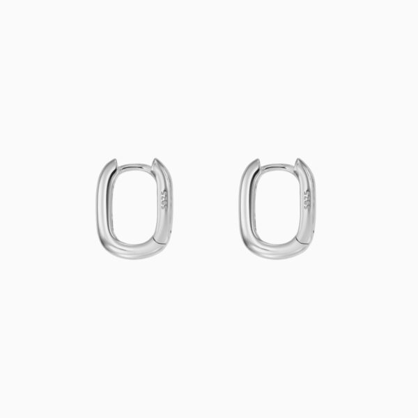 Cercei din argint Manissi Oval Hoop