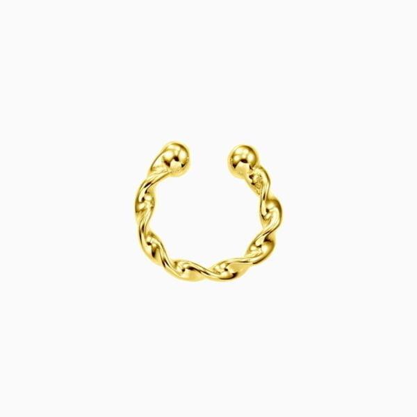 Cercel din argint Manissi Twist Cuff Gold
