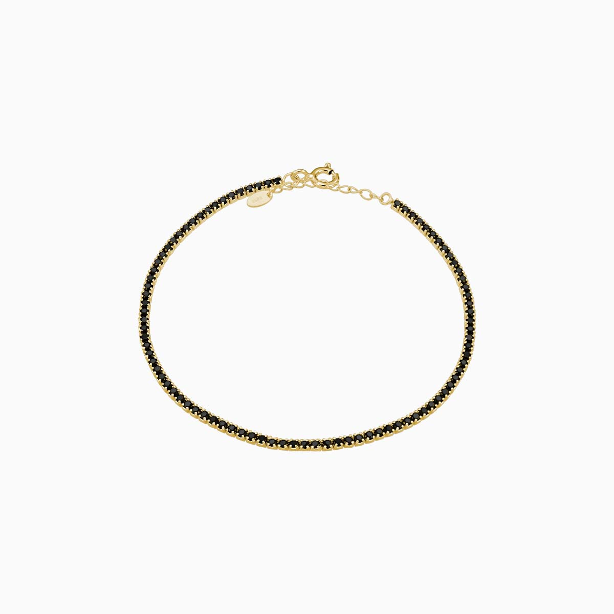 Bratara din argint Manissi tennis de 1.5 mm black gold