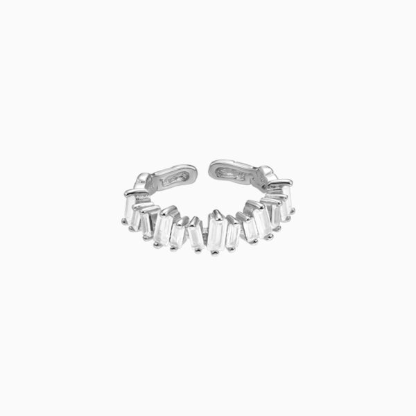 inel din argint tennis cu forma neregulata