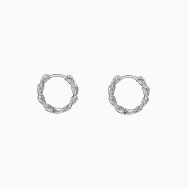 cercei din argint mici model impletit