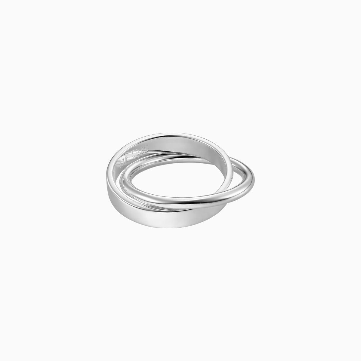 inel din argint dublu model verigheta