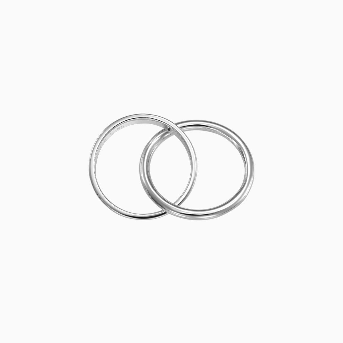 inel din argint dublu verigheta