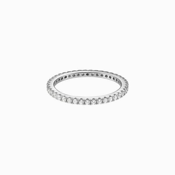 inel din argint subtire model tennis