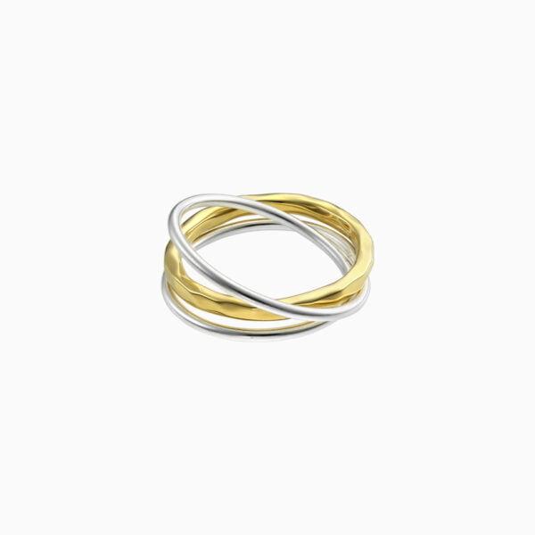 inel din argint trei in unul