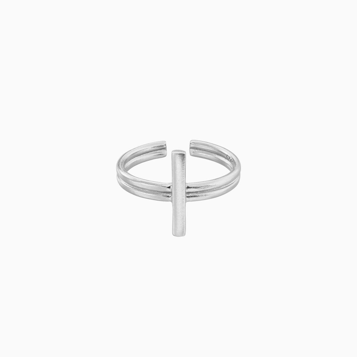 Inel din argint Manissi Cross Bold